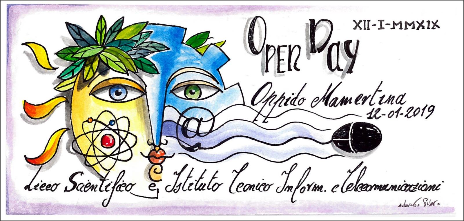 OPEN DAY OPPIDO MAMERTINA ITIS biennio e triennio, LICEO giorno 12 GENNAIO 2019 dalle ore 15:00 alle ore 18:00